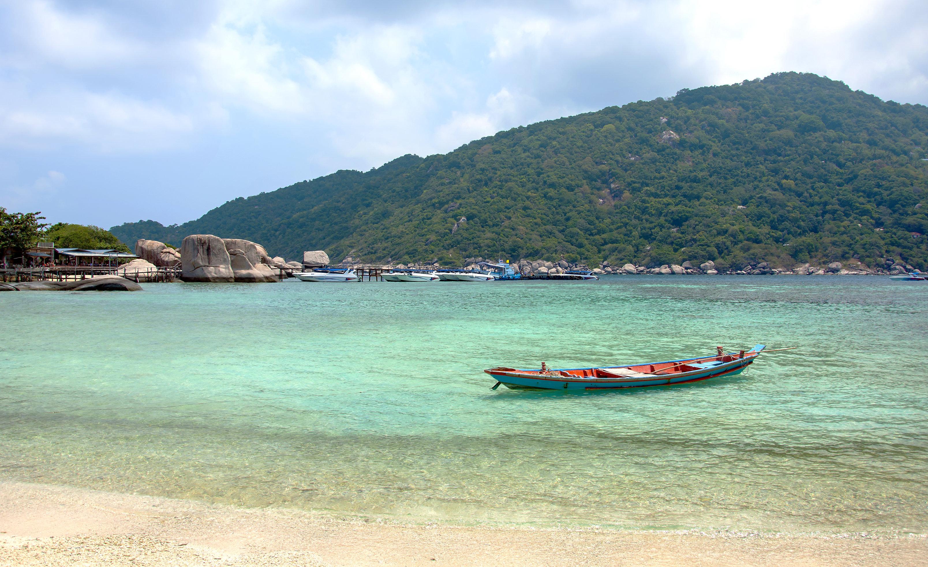 Leren genieten van kleine dingen eiland met boot