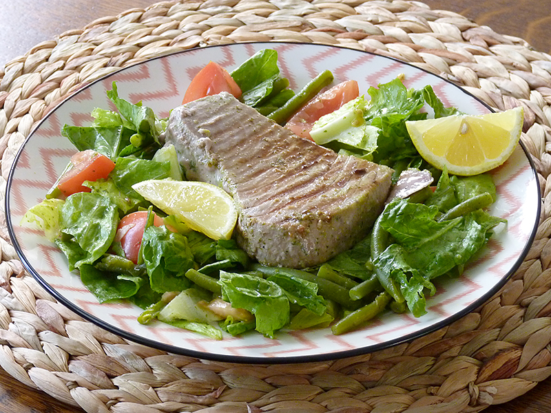 tonijnsteak-salade