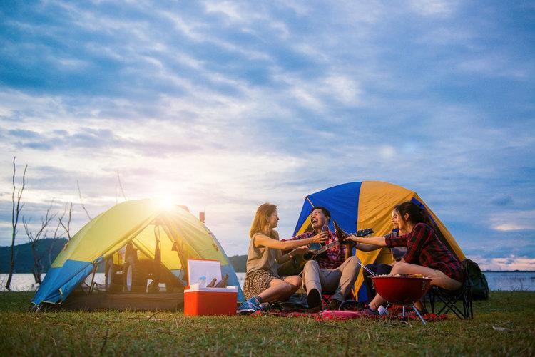 Vrienden camperen